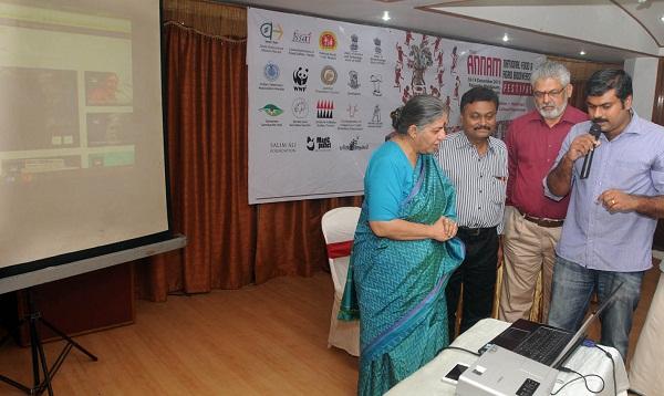 Dr. Vandana Shiva with Dr.C Suresh kumar and Dr.G Gangadharan