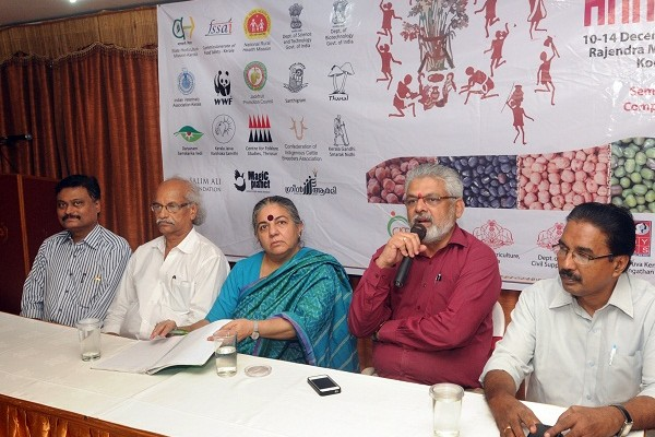 Dr.Vandana Shiva with Dr.G G Gangadharan, Shri.venugopal, Sri Ajith Venniyoor and Dr.C Suresh kumar
